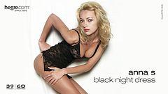 Anna S. vestido de noche negro