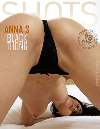 Anna S black thong