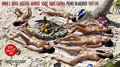 Anna S Brigi Melissa Muriel Suzie Suzie Carina picnic en México parte 1