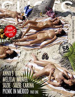 Anna S Brigi Melissa Muriel Suzie Suzie Carina picnic in Mexico part 1