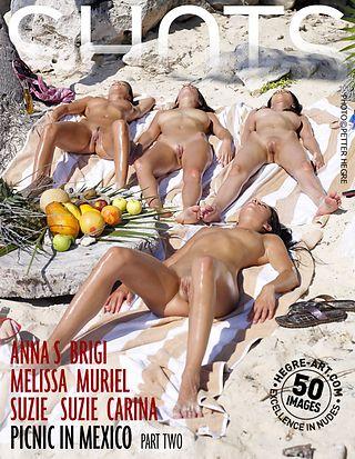 Anna S Brigi Melissa Muriel Suzie Suzie Carina picnic in Mexico part 2