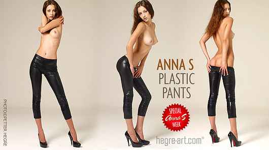 Anna S pantalones plásticos