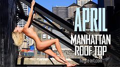 April Manhattan roof top