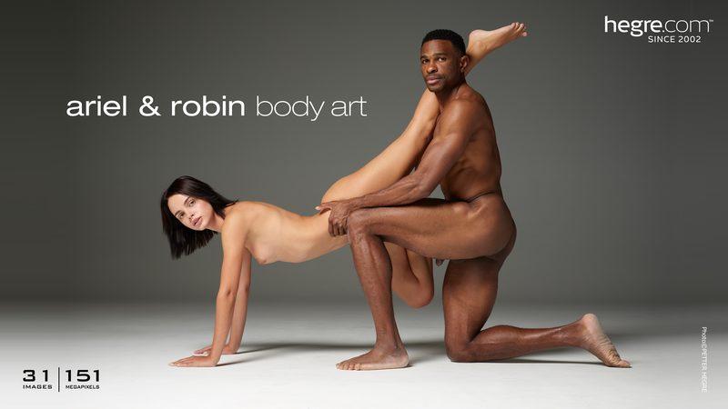 Ariel and Robin body art