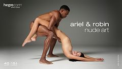 Ariel and Robin nude art
