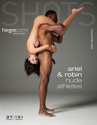 Ariel and Robin nude athletes