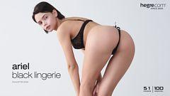 Ariel black lingerie