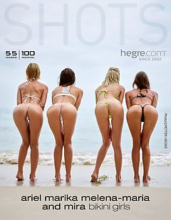 Ariel, Marika, Melena Maria and Mira bikini girls