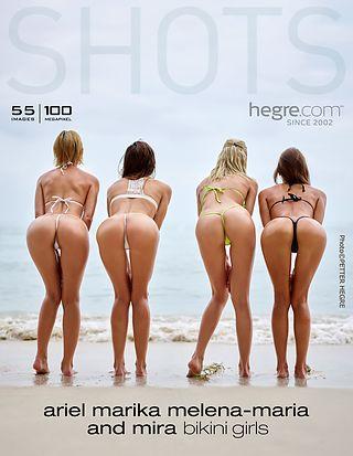Ariel, Marika, Melena Maria and Mira bikini girls