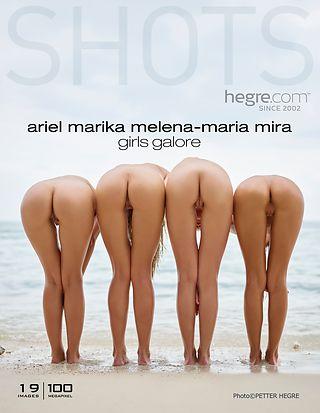 Ariel Marika Melena Maria Mira girls galore