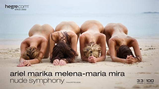 Ariel Marika Melena Maria Mira nude symphony