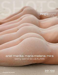 Ariel, Marika, Melena, Maria, Mira Sexy Sandskulpturen