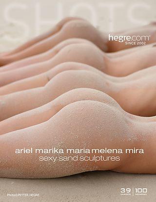 Ariel Marika Melena Maria Mira sexy sand sculptures