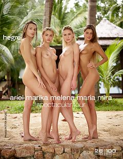 Ariel Marika Melena Maria Mira spectacular four