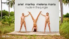 Ariel Marika Melena Maria nus dans la jungle