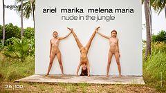 Ariel Marika Melena Maria nackt im Dschungel