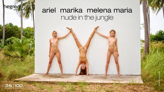 Ariel Marika Melena Maria nude in the jungle