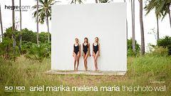 Ariel Marika Melena Maria la pared de fotos