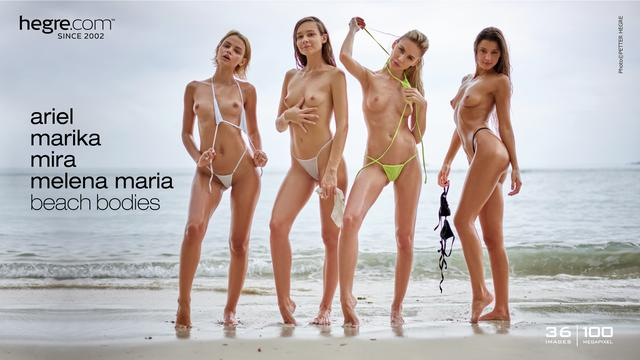 Ariel Marika Mira Melena Maria beach bodies