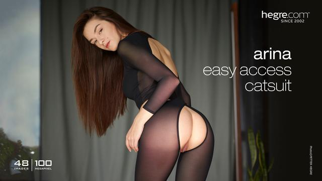 Arina easy access catsuit