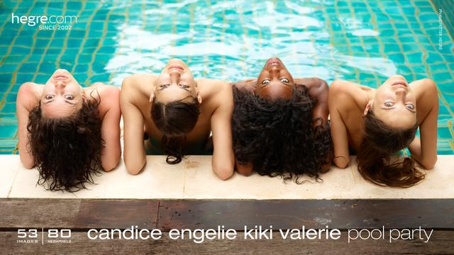 Candice Engelie Kiki Valerie pool party