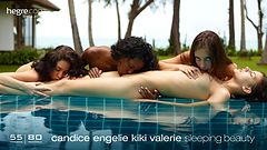 Candice Engelie Kiki Valerie sleeping beauty
