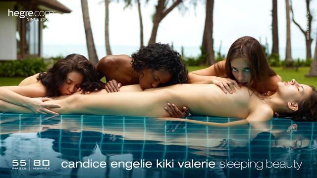 Candice Engelie Kiki Valerie bellezas durmientes