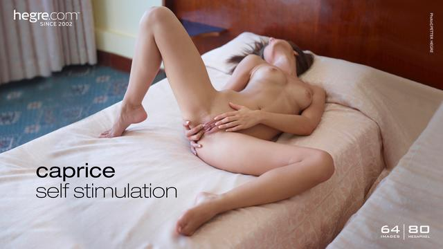 Caprice self stimulation