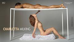 Charlotta milking