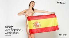 Cindy viva España en el Mundial