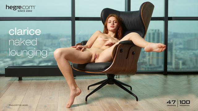 Clarice naked lounging