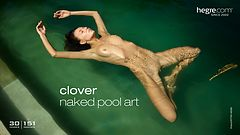 Clover naked pool art