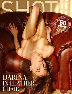 Darina in leather chair