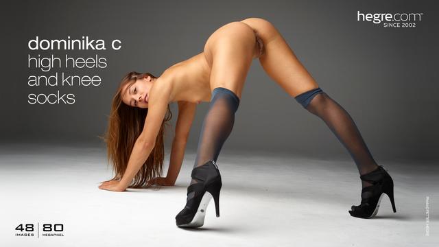 Dominika C high heels and knee socks