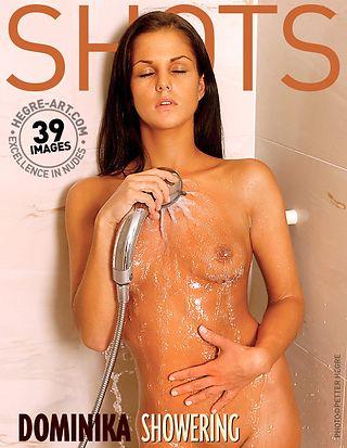 Dominika showering