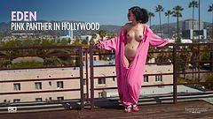 Eden Pink panthère à Hollywood