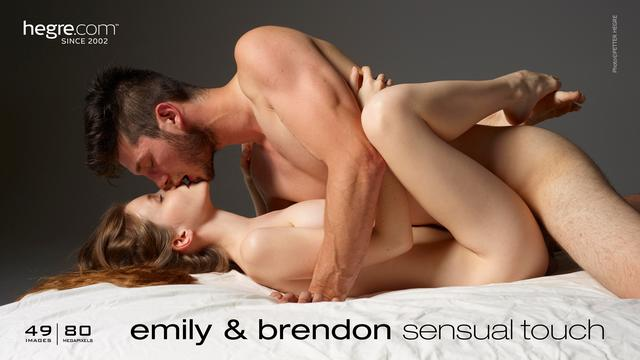 Emily and Brendon sensual touch
