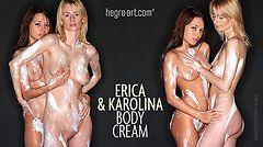 Erica and Karolina body cream