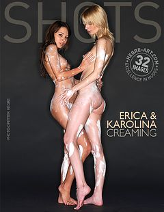 Erica y Carolina con crema