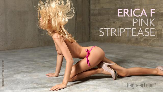 Erica F pink striptease