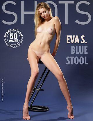 Eva S. blue stool