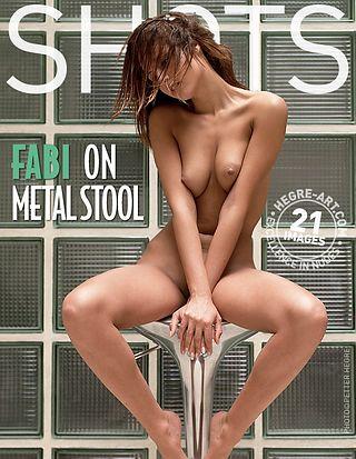 Fabi on metal stool