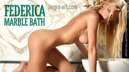 Federica baño de mármol