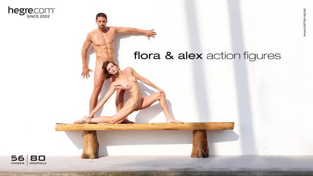 Flora y Alex figuras de acción