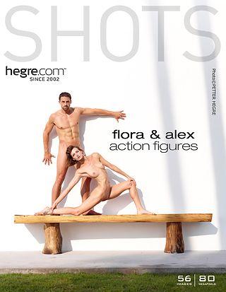 Flora et Alex silhouettes en action