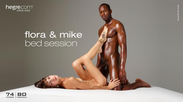 Flora y Mike sesión de cama