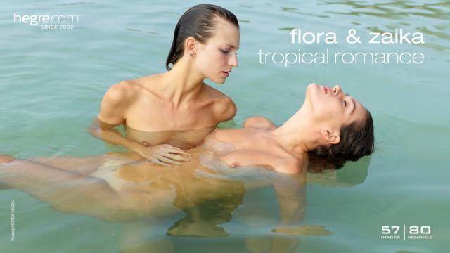 Flora and Zaika tropical romance