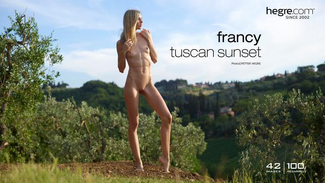 Francy crépuscule Toscane