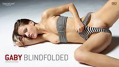 Gaby blindfolded