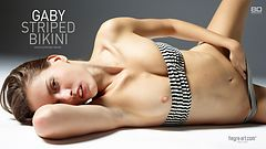 Gaby striped bikini